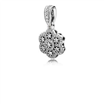 Pandora Crystallised Floral Necklace Pendant 390392CZ