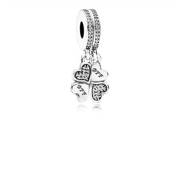 Pandora Best Friends Forever Dangle Charm, Clear CZ 791949CZ