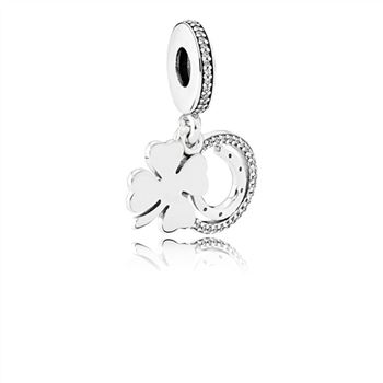 Pandora Lucky Day Dangle Charm, Clear CZ 792089CZ
