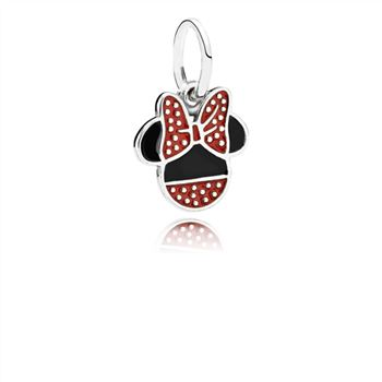 Pandora Disney, Minnie Icon Dangle Charm, Mixed Enamel 791460ENMX