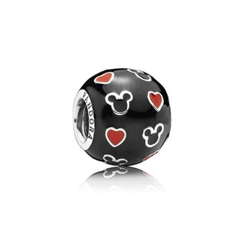 Pandora Disney, Mickey & Hearts Charm, Mixed Enamel 791477ENMX