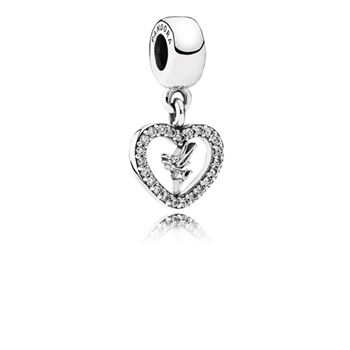 Pandora Disney, Love Tinker Bell Dangle Charm, Clear CZ 791565CZ