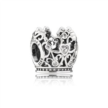 Pandora Disney, Princess Crown Charm, Clear CZ 791580CZ
