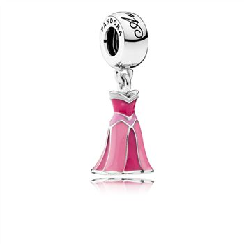 Pandora Disney, Aurora's Dress Dangle Charm, Mixed Enamel 791921ENMX