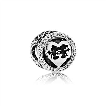 Pandora Disney, Mickey & Minnie Love, Charm Clear CZ 791957CZ