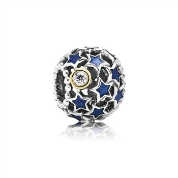 Pandora Night Sky Charm, Blue Enamel & Clear CZ 791371CZ