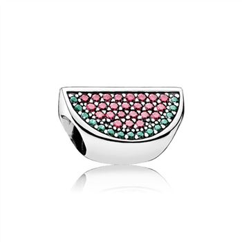 Pandora Pave Watermelon Charm, Red & Green CZ 791901CZR