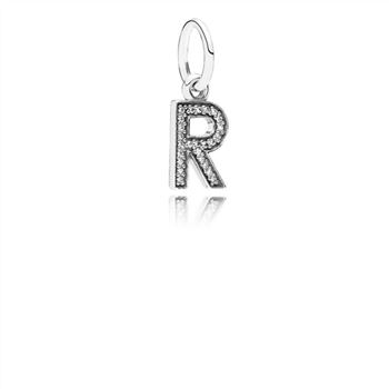 Pandora Letter R Dangle Charm, Clear CZ 791330CZ