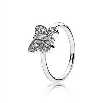 Pandora Sparkling Butterfly Ring, Clear CZ 190938CZ