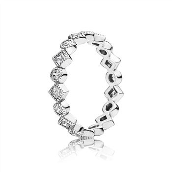 Pandora Alluring Brilliant Princess Stackable Ring, CZ 190943CZ