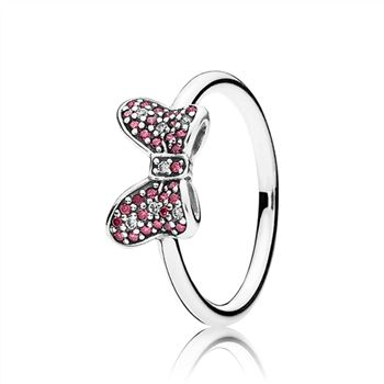 Pandora Disney, Minnie's Sparkling Bow Ring, Red & Clear CZ 190956CZR