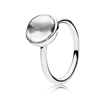 Pandora Poetic Droplet Ring, Clear CZ 190982CZ