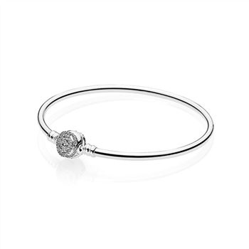 Pandora Disney, Beauty & The Beast Bangle Bracelet, Clear CZ 590748CZ