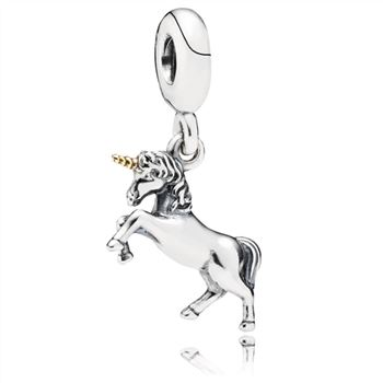 Pandora Unicorn Silver and Gold Hanging Charm - PANDORA 791200