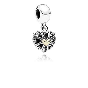Pandora Filled With Love Silver & Gold Hanging Charm - PANDORA 791274