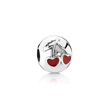 Pandora Cherries, red enamel 791093EN39