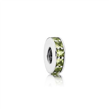 Pandora Eternity Spacer, Olive Green Crystal 791724NLG