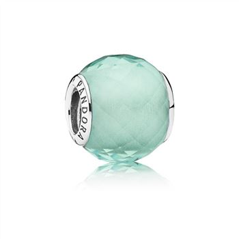 Pandora Petite Facets Charm, Synthetic Green Quartz 791499SGQ
