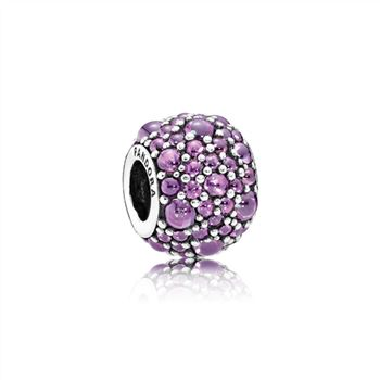 Pandora Shimmering Droplets Charm, Fancy Purple CZ 791755CFP