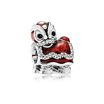 Pandora Chinese Lion Dance Charm, Mixed Enamel 792043CZ