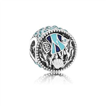 Pandora Ocean Life Charm, Mixed Enamel & Multi-Colored CZ 792075ENMX
