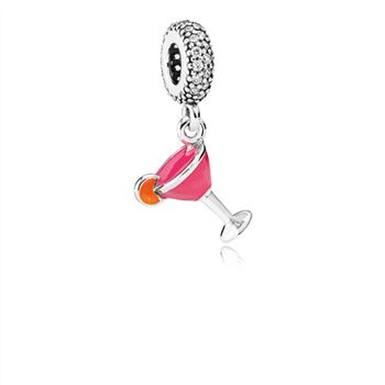 Pandora Fruity Cocktail Dangle Charm, Mixed Enamel & Clear CZ 792153ENMX