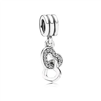 Pandora Interlocking Love, Clear CZ 791242CZ