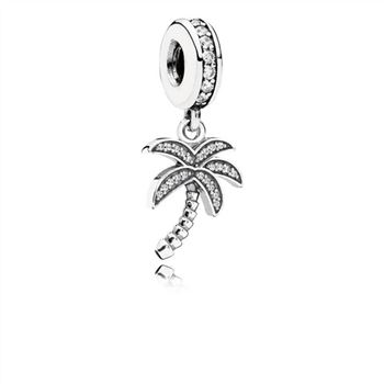 Pandora Sparkling Palm Tree Dangle Charm, Clear CZ 791540CZ