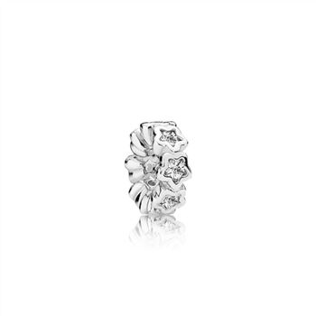 Pandora Star silver spacer with clear cubic zirconia 791783CZ