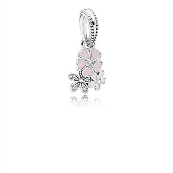 Pandora Poetic Blooms Dangle Charm, Mixed Enamels & Clear CZ 791824ENMX