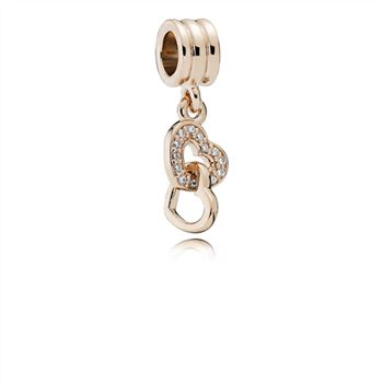 Pandora Interlocking Love Dangle Charm, PANDORA Rose & CZ 781242CZ