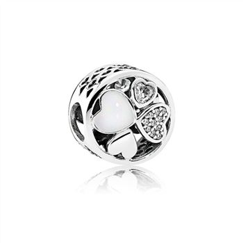 Pandora Hearts of Love Openwork Charm 792143CZ